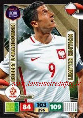 2018 - Panini Road to FIFA World Cup Russia Adrenalyn XL - N° LE-RL - Robert LEWANDOWSKI (Pologne) (Limited Edition)