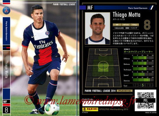 Panini Football League 2014 - PFL06 - N° 067 - Thiago MOTTA (Paris Saint-Germain)