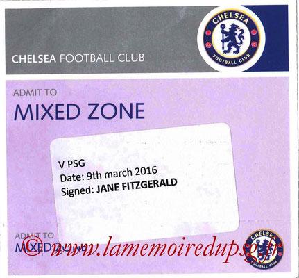 Badge Presse  Chelsea-PSG  2015-16