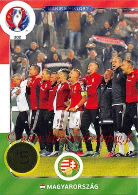 Panini Euro 2016 Cards - N° 202 - Making History de  Hongrie