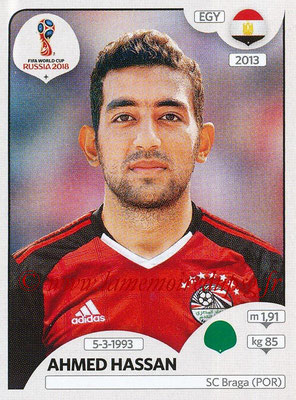 2018 - Panini FIFA World Cup Russia Stickers - N° 089 - Ahmed HASSAN (Egypte)