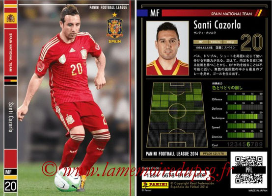 Panini Football League 2014 - PFL08 - N° 121 - Santi CAZORLA (Espagne)