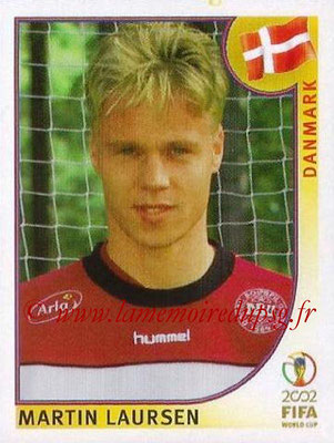 2002 - Panini FIFA World Cup Stickers - N° 083 - Martin LAURSEN (Danemark)