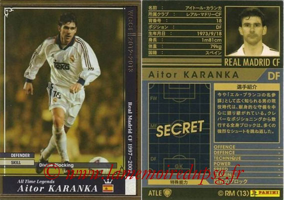 2012-13 - WCCF - N° ATLE03 - Aitor KARANKA (Real Madrid CF) (All-Time Legend)
