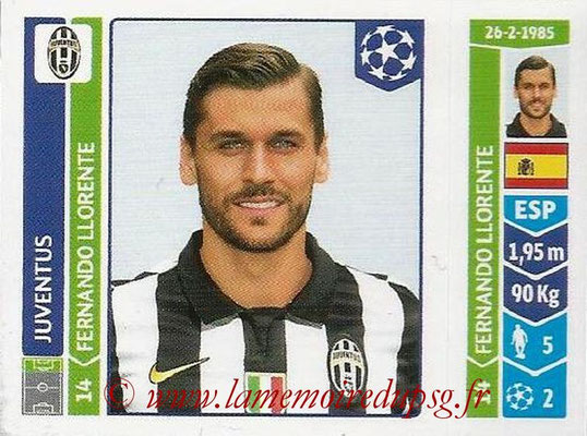 2014-15 - Panini Champions League N° 065 - Fernando LLORENTE (Juventus Turin)
