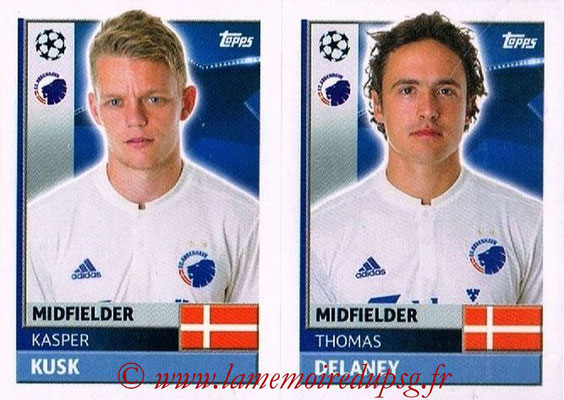 2016-17 - Topps UEFA Champions League Stickers - N° QFD 9-10 - Thomas DELANEY + Kasper KUSK (FC Copenhague)