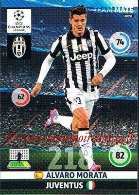 2014-15 - Adrenalyn XL champions League Update edition N° UE051 - Alvaro MORATA (Juventus FC)