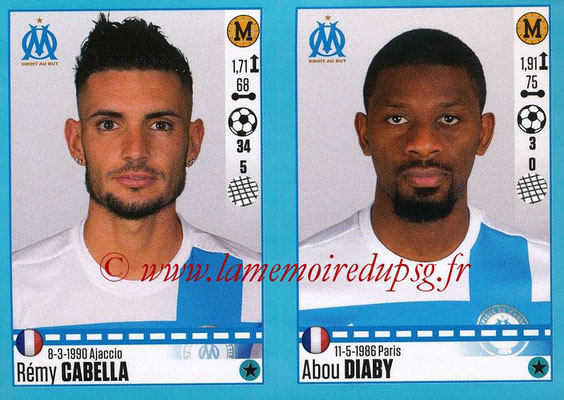 2016-17 - Panini Ligue 1 Stickers - N° 408 + 409 - Rémy CABELLA + Abou DIABY (Marseille)
