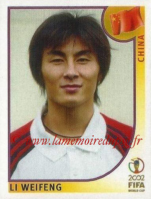 2002 - Panini FIFA World Cup Stickers - N° 211 - Li WEIFENG (Chine)