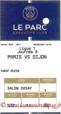 Tickets  PSG-Dijon  2016-17