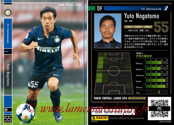 Panini Football League 2014 - PFL08 - N° 018 - Yuto NAGATOMO (Inter)