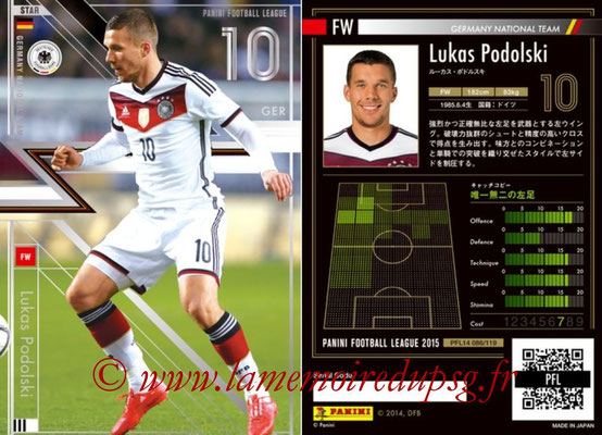 Panini Football League 2015 - PFL14 - N° 086 - Lukas PODOLSKI (Allemagne) (Star)