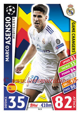 2017-18 - Topps UEFA Champions League Match Attax - N° GC01 - Marco ASENSIO (Real Madrid CF) (Game Changers)