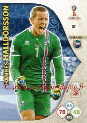 2018 - Panini FIFA World Cup Russia Adrenalyn XL - N° 181 - Hannes HALLDORSSON (Islande)