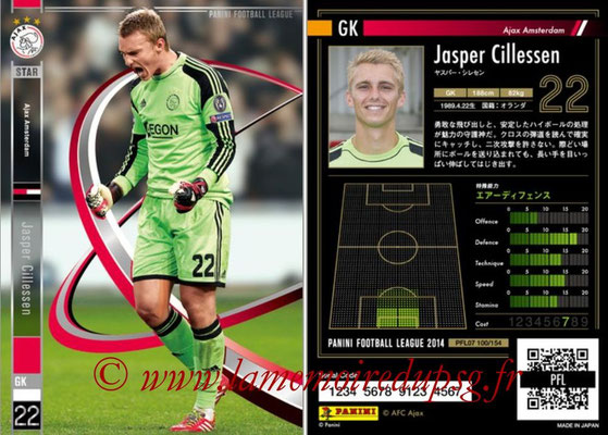 Panini Football League 2014 - PFL07 - N° 100 - Jasper CILLESSEN (Ajax Amsterdam)