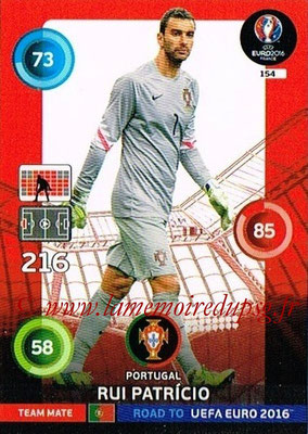 Panini Road to Euro 2016 Cards - N° 154 - Rui PATRICIO (Portugal)