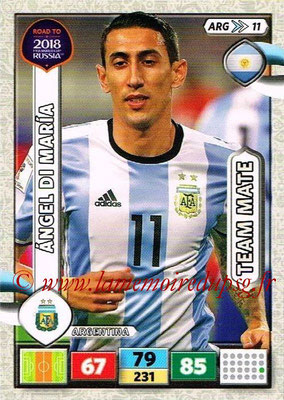 2018 - Panini Road to FIFA World Cup Russia Adrenalyn XL - N° ARG11 - Angel DI MARIA (Argentine)