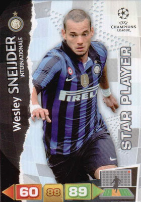 2011-12 - Panini Champions League Cards - N° 116 - Wesley SNEIJDER (Inter Milan) (Star Player)