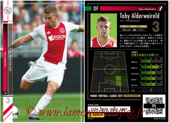 Panini Football League 2013 - PFL01 - N° 156 - Toby Alderweireld ( Ajax Amsterdam )