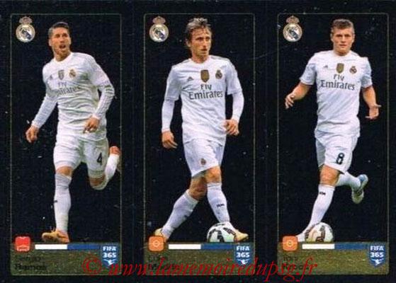 2015-16 - Panini FIFA 365 Stickers - N° 383-384-385 - Sergio RAMOS + Luka MODRIC + Toni KROOS (Real Madrid CF)