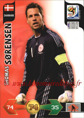 2010 - Panini FIFA World Cup South Africa Adrenalyn XL - N° 076 - Thomas SORENSEN (Danemark)
