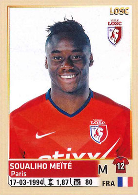 2014-15 - Panini Ligue 1 Stickers - N° 162 - Soualiho MEITE (Lille OSC)
