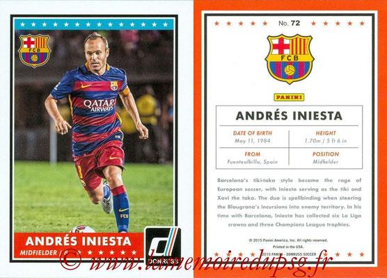2015 - Panini Donruss Soccer - N° 072 - Andrés INIESTA (FC Barcelone)