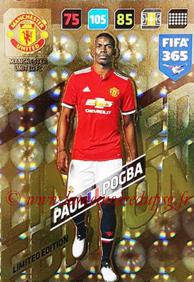 2017-18 - Panini FIFA 365 Cards - N° LE-PP - Paul POGBA (Manchester United) (Limited Edition)