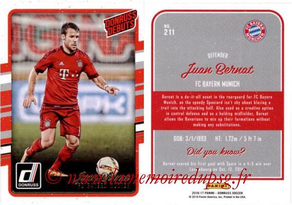 2016 - Panini Donruss Cards - N° 211 - Juan BERNAT (FC Bayern Munich) (Donruss Debuts)