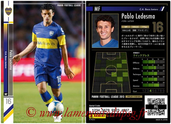 Panini Football League 2013 - PFL01 - N° 118 - Pablo Ledesma ( C.A. Boca Juniors )