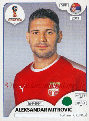 2018 - Panini FIFA World Cup Russia Stickers - N° 430 - Aleksandar MITROVIC (Serbie)