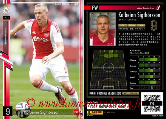 Panini Football League 2015 - PFL11 - N° 079 - Kolbeinn SIGHORSSON (Ajax)