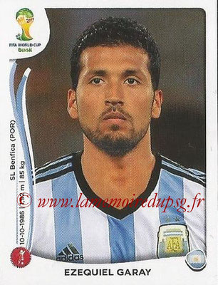 2014 - Panini FIFA World Cup Brazil Stickers - N° 416 - Ezequiel GARAY (Argentine)