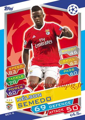 2016-17 - Topps UEFA Champions League Match Attax - N° BEN6 - Nelson SEMEDO (SL Benfica)
