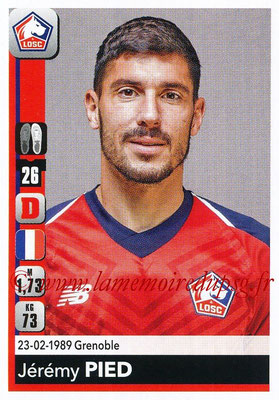 2018-19 - Panini Ligue 1 Stickers - N° 159 - Jérémy PIED (Lille)