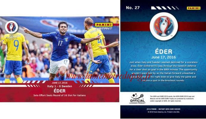 Panini Instant Euro 2016 - N° 027 - EDER