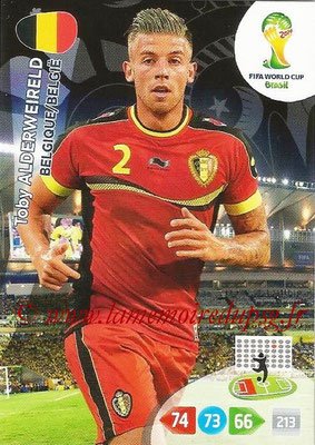 2014 - Panini FIFA World Cup Brazil Adrenalyn XL - N° 028 - Toby ALDERWEIRELD (Belgique)