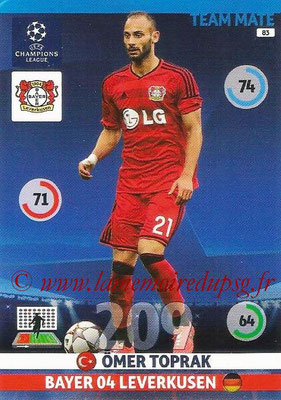 2014-15 - Adrenalyn XL champions League N° 083 - Omer TOPRAK (Bayer Leverkusen)