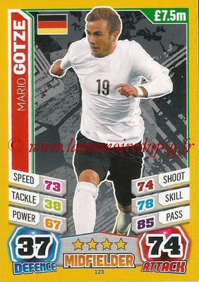 Topps Match Attax England 2014 - N° 123 - Mario GOTZE (Allemagne)