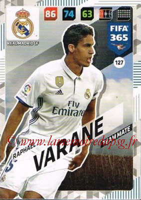 2017-18 - Panini FIFA 365 Cards - N° 127 - Raphaêl VARANE (Real Madrid CF)