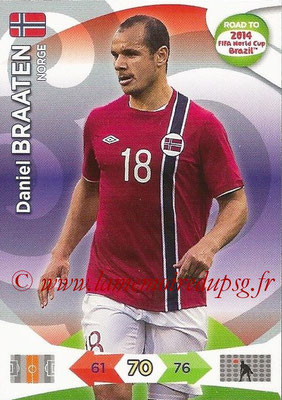 2014 - Panini Road to FIFA World Cup Brazil Adrenalyn XL - N° 143 - Daniel BRAATEN (Norvège)