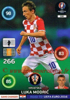 Panini Road to Euro 2016 Cards - N° 330 - Luka MODRIC (Croatie) (Game Changer)