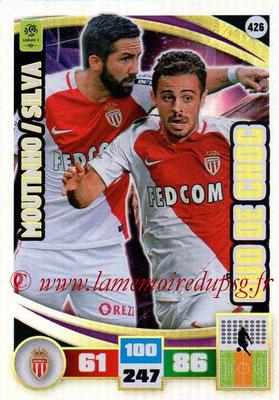 2016-17 - Panini Adrenalyn XL Ligue 1 - N° 426 - Joao MOUTINHO + Bernardo SILVA (Monaco) (Duo de Choc)