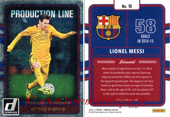 2016 - Panini Donruss Cards - N° PL10 - Lionel MESSI (FC Barcelone) (Production Line)