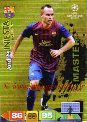2011-12 - Panini Champions League Cards - N° 327 - Andres INIESTA (FC Barcelone) (Master)