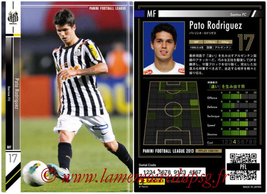 Panini Football League 2013 - PFL01 - N° 108 - Pato Rodriguez ( Santos FC )