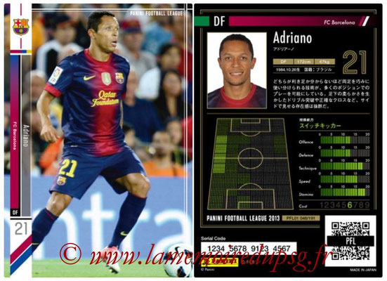 Panini Football League 2013 - PFL01 - N° 048 - Adriano ( FC Barcelona )