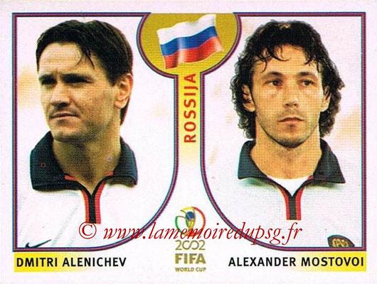 2002 - Panini FIFA World Cup Stickers - N° 527 - Dmitri ALENICHEN + Alexander MOSTOVOI (Russie)