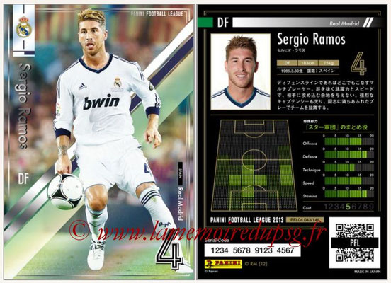 Panini Football League 2013 - PFL04 - N° 043 - Sergio Ramos (Real Madrid)
