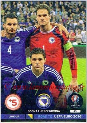 Panini Road to Euro 2016 Cards - N° 045 - Equipe Bosnie Herzegovine 3